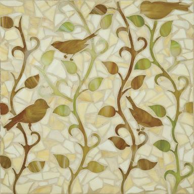 bird vines tiles