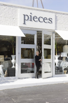 Pieces Inc. owner Lee Kleinhelter outside her Atlanta store