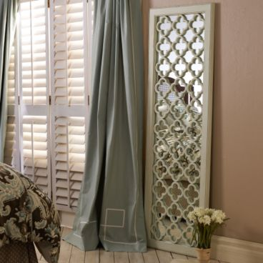 Off white trellis mirror from Ballard Designs