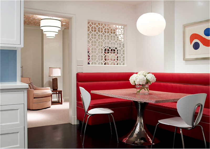 COCOCOZY: KITCHEN WEEK: EATING IN A MODERN KTICHEN - WHY A RED LEATHER ...