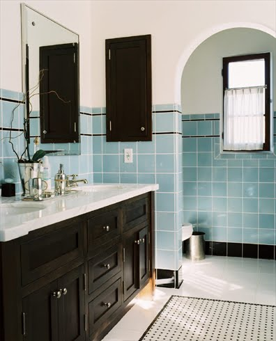 black and white tile bathroom. lack and white tile bathroom.