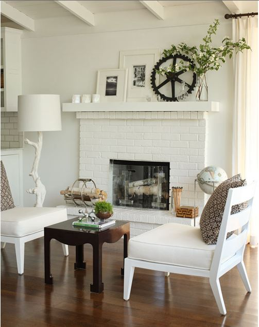 Excellent White Brick Fireplace with Mantel 503 x 637 · 48 kB · jpeg