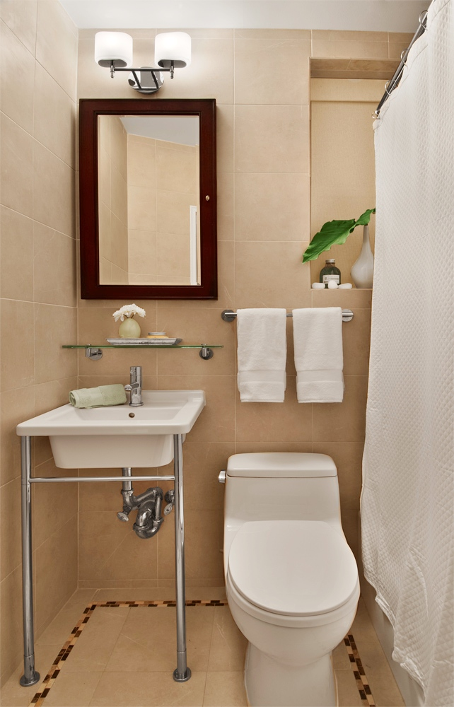 Bath week reader submissions bathroom makeovers before Small bathroom makeovers