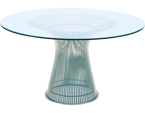 Glass Round Dining Table With Wood Base Best Dining  : platner2Bdining2Btable2Bround2Bmetal2Bglass from bestdiningtableideas.blogspot.com size 500 x 390 jpeg 49kB
