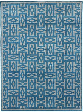 Blue and white Oscar de la Renta Manisalez Rug