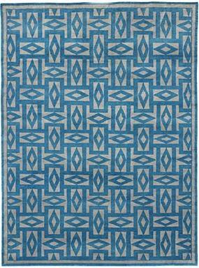 Blue and white Oscar de la Renta Manisalez Rug