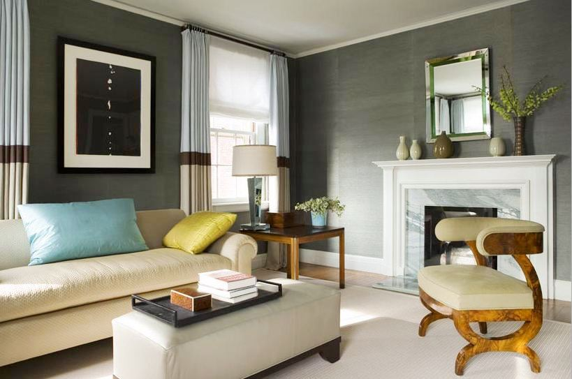 Modern Living Room Grey Walls 10 of the best colors to pair with gray. green and grey living