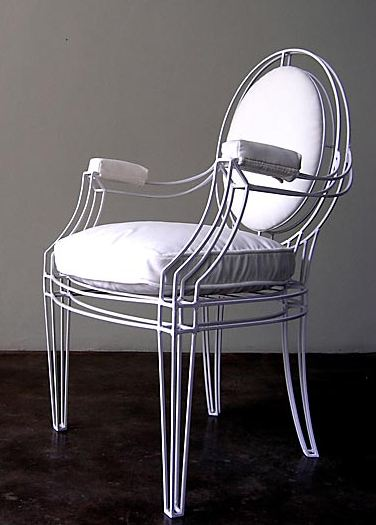 Metal Louis XIV chair