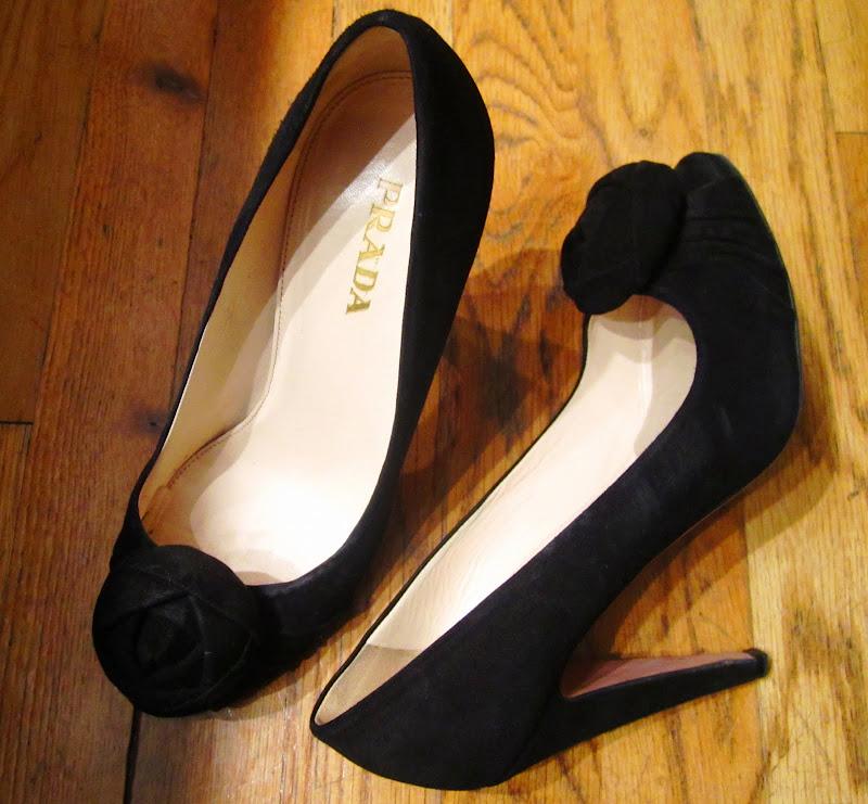Black Prada heels