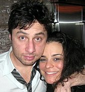 Photo of Zach Braff & his  Sister   Jessica Kirson
