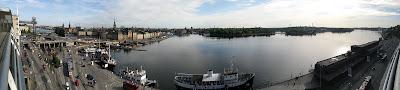 Panorama över Stockholm, sett från söder.