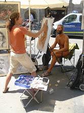 Pintando un desnudo