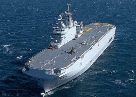 russian navys second mistral class ship floated