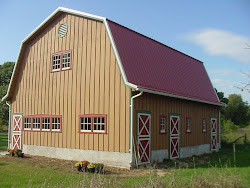 Our barn with new paint