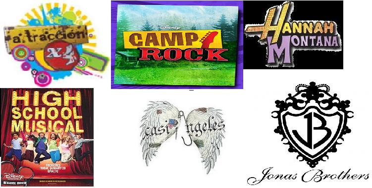 ATRACCION X 4 CASI ANGELES CAMP ROCK REBELDE, patito feo jonas brothers