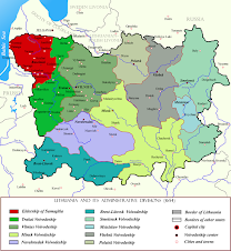 LDK valsčių žemėlapis