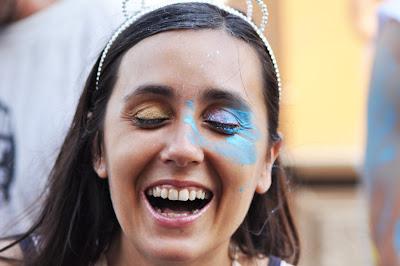 Susana en el Carnaval de Barranco