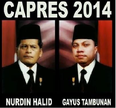 Foto Lucuus Tambunan Dan Nurdin Halid Calon Presiden
