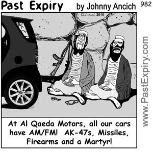 [CARTOON] Al-Qaeda Motors.  images, pictures, advertising, business, cartoon, shopping, cars, violence, terrorist
