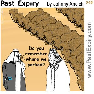 [CARTOON] Camel Parking , images, pictures, image, picture, animals, cartoon, Dubai, cars, shopping