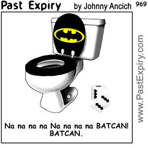 [CARTOON] Batman's Washroom.  images, pictures, celebrity, cartoon, crime, movie, men