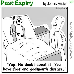 [CARTOON] Soccer Disease.  images, pictures, cartoon, health, pun, sports, soccer