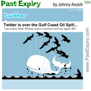 [CARTOON] Twitter Fail Whale.  images, pictures, animals, cartoon, environment, internet, oil, pollution, Twitter,
