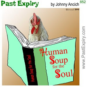 [CARTOON] Chicken Soup for the Soul. animals, cartoon, spoof, stress, books