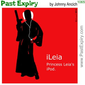 [CARTOON] Princess Leia iPod. advertising, Apple, cartoon, music, spoof, technology