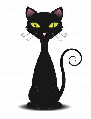 cartoon cats black cat