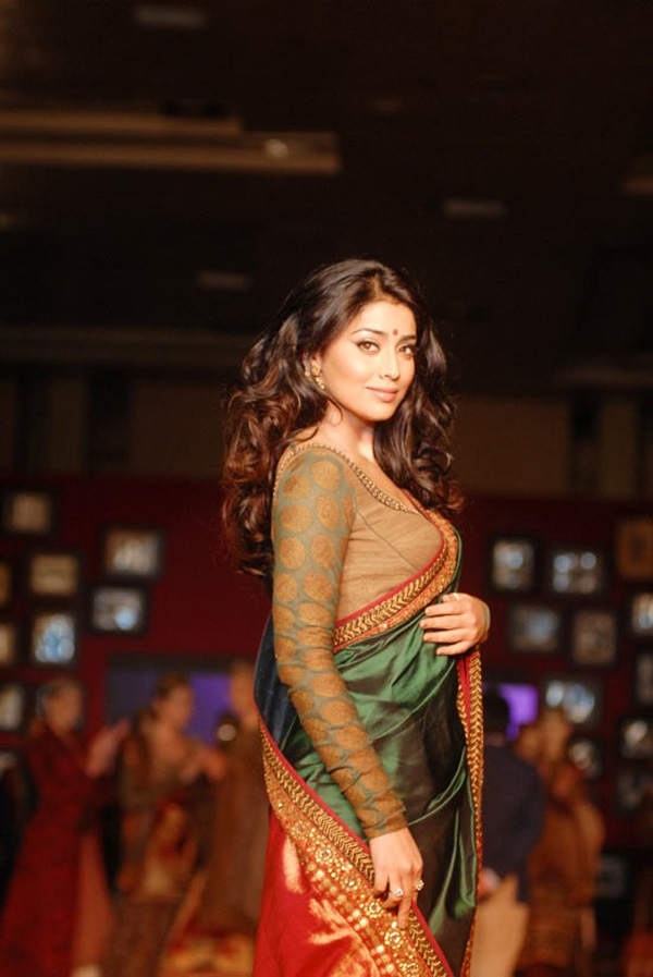 Shriya Saran hot Ramp Walk Pic - Shriya Saran Hot Ramp Walk Pics in Saree