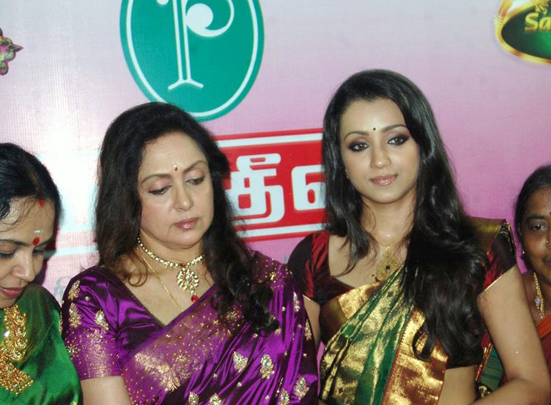 Trisha Lates Event Stills in Saree