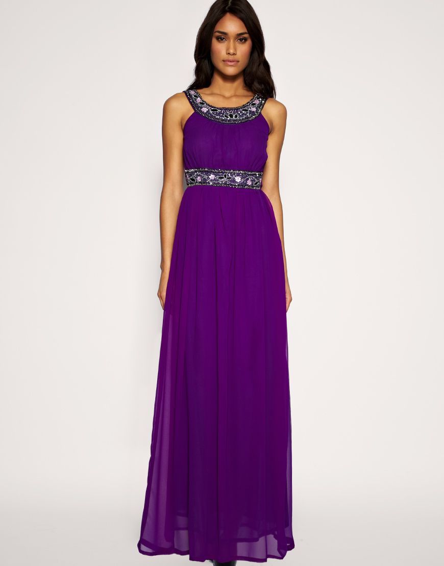 Modest dress wedding for Purple maxi dresses for weddings