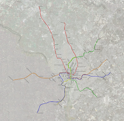 map of dc metro. in DC Metropolitan area.