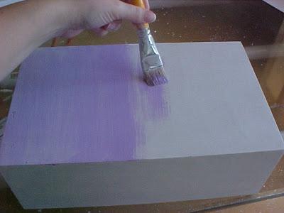 Pintar caixas de madeira tinta acrilica
