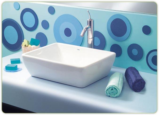 Bachas Para Baño Nuevas:Nuevas líneas en bacha de apoyo loza blanca marca Celite
