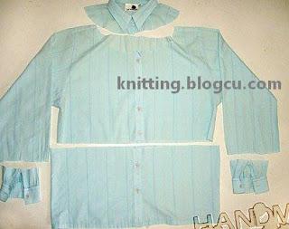 Dikiş & Nakış eski gömlekten bluz yapımı