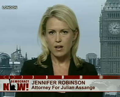 Australian human rights lawyer Jennifer Robinson on US TV