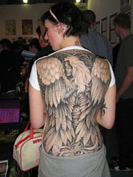 nice top angel tattoos