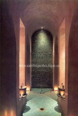 this abthroom was deisgned by St.Tropez design company using traditional moroccan style tile-making techniques