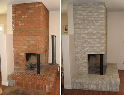 PAINTING A BRICK FIREPLACE IS AN EASY WAY TO MAKEOVER YOUR
