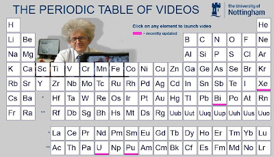 as i was watching videos on youtube about the large hadron collider this series of videos called the periodic table of videos caught my attention - Periodic Table Videos Youtube