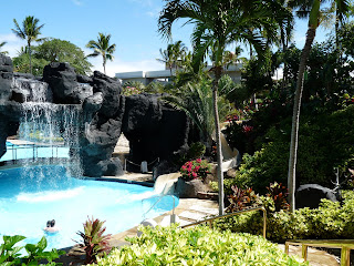 Hilton Waikoloa Village Waterfall at Pool