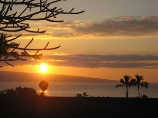 Maui beach sunset photo