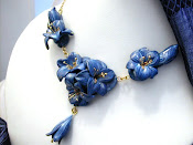 "COLLIER ""GIGLI BLU"""
