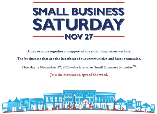 Rebuilding Place in the Urban Space: SMALL BUSINESS SATURDAY (for ...