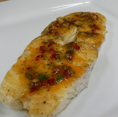 The mediocre cook 73 pan roasted halibut steaks for How to cook halibut fish