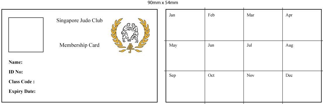 singapore judo club sjc membership cards. Black Bedroom Furniture Sets. Home Design Ideas