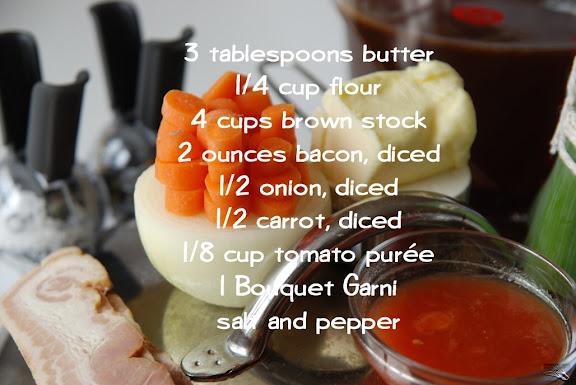 Espagnole Sauce mise en place