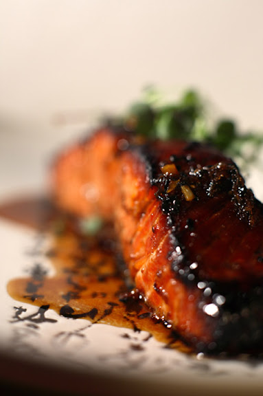 Cedar plank salmon with an Asian twist